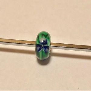 Trollbeads Blue Flower Glass Bead